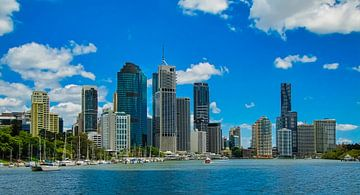 Skyline van Brisbane, Australie van Rietje Bulthuis
