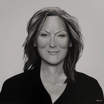 Meryl Streep schilderij von Paul Meijering
