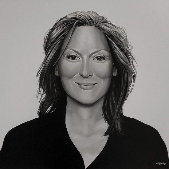 Meryl Streep schilderij van Paul Meijering