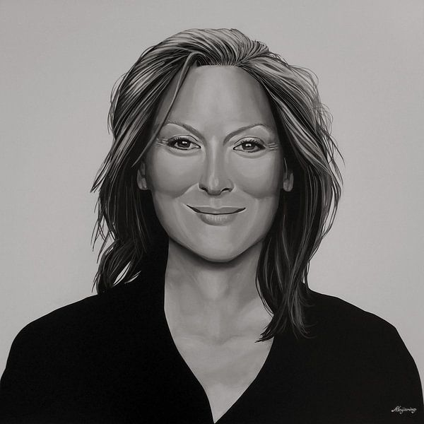 Meryl Streep schilderij
