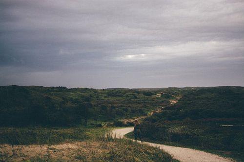 eenzaam in de duinen van