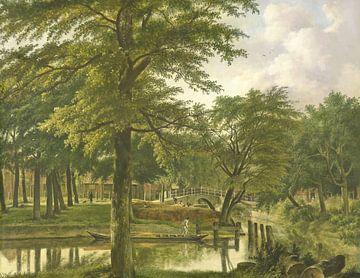 Gezicht op de Nieuwe Gracht te Haarlem, Wybrand Hendriks