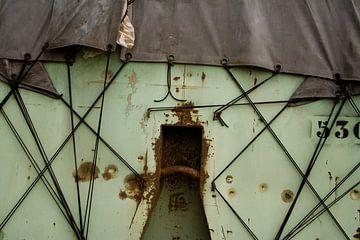Abstract beeld van een container van Mark Nieuwenhuizen