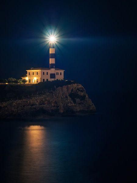 Lighthouse of Portocolom (Majorca) van Alexander Voss