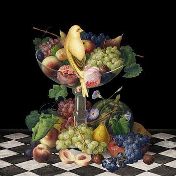 Fruchtkunst - ein Stillleben von Marja van den Hurk