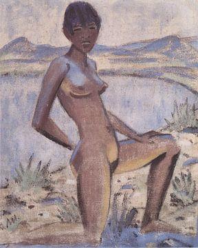 Große Kniende, Otto Mueller - ca1926