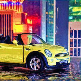 Mini Cabrio - Yellow von DeVerviers