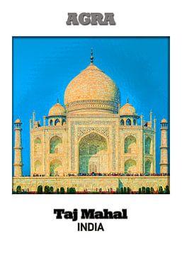 Agra & Taj Mahal van Printed Artings