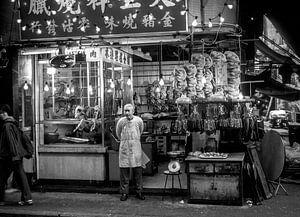 Hong Kong, Nacht markt in Kowloon, China van