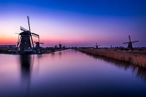Cold Kinderdijk sunsets