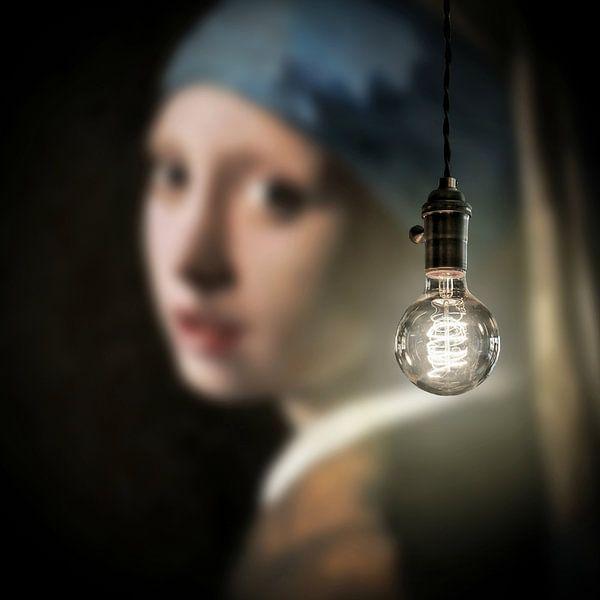 Meisje met de Parel - Art Lumineux sur Marja van den Hurk