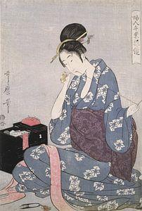 Hari-shigoto] = [Needlework], Kitagawa, Utamaro (1753?-1806), (Artist), Date Created: ca. 1793-ca.18