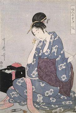 Hari-shigoto] = [Needlework], Kitagawa, Utamaro (1753?-1806), (Artist), Date Created: ca. 1793-ca.18 sur