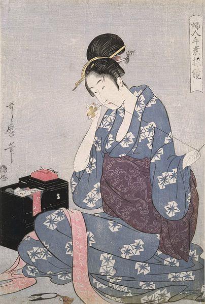 Hari-shigoto] = [Needlework], Kitagawa, Utamaro (1753?-1806), (Artist), Date Created: ca. 1793-ca.18 van Liszt Collection
