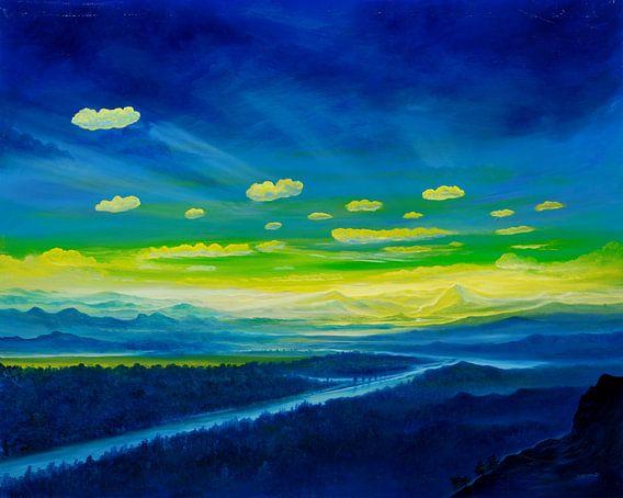 Gelber Horizont van Silvian Sternhagel