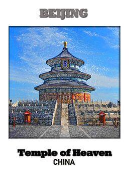 Peking (Beijing) & Tempel des Himmels van Printed Artings