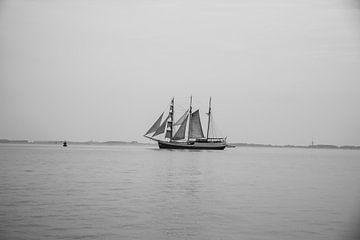 Zeilschip in Zeeland von Kas Den Elzen