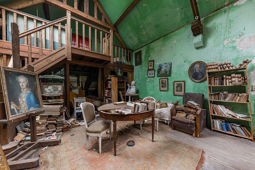verlaten kunst atelier van William Linders