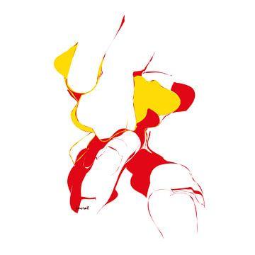 Abstracte kunst JM0492op van Johannes Murat