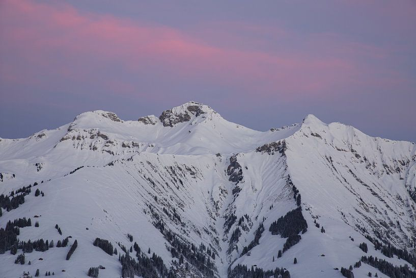Sonnenaufgang in den Berner Alpen von Martin Steiner