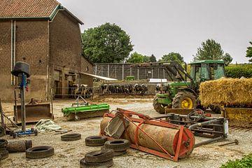 Boerenerf in de buurt van Vijlen van John Kreukniet