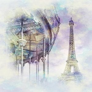 Typisch Parijs | Aquarel Stijl
