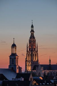 Breda - Grote Kerk - Zonsondergang