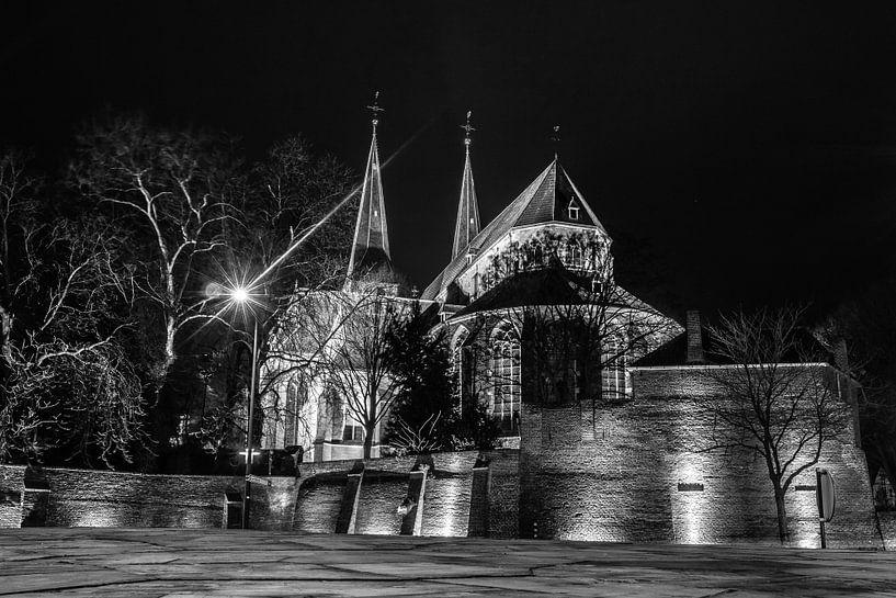 Bergkerk Deventer zwart/wit van Frank Slaghuis