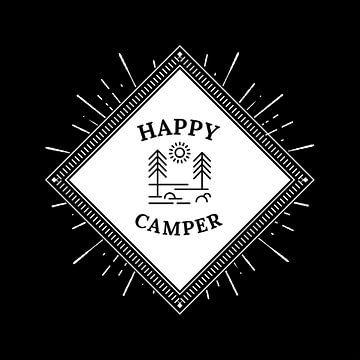 Happy Camper Camping Camping Tent Gift Tent Gift van Felix Brönnimann