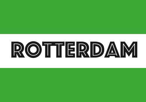 Rotterdamse vlag van De Vlaggenshop