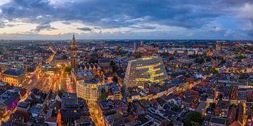 Groningen Forum bei Nacht 07Panorama vom Himmel des Groninger Forums von Peter Wiersema