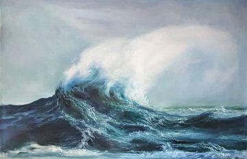 Ocean strength van KB Prints