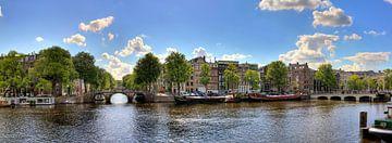 Amstel rivier panorama van Dennis van de Water