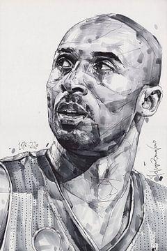 Kobe Bryant, L.A. Lakers Zeichnung von Jos Hoppenbrouwers