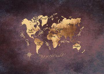 Weltkarte 16 #Karte #Weltkarte von JBJart Justyna Jaszke