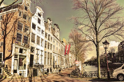 Keizersgracht in de Winter Amsterdam Oud