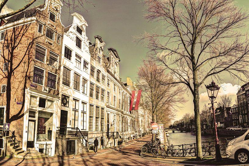 Keizersgracht in de Winter Amsterdam Oud van Hendrik-Jan Kornelis