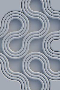 Schlangenlinien blau