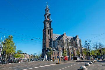 Stadsgezicht van Amsterdam met de Westerkerk van Nisangha Masselink