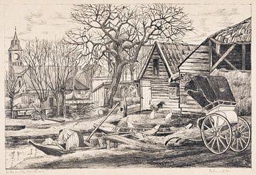 Dorf am Wasser, Otto Hanrath, 1924