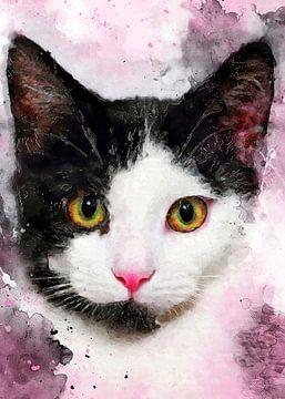 Katze 5 Tiere Kunst #Katze #Katzen #Kätzchen von JBJart Justyna Jaszke