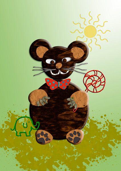 Kinderzimmerbild  -   Bär