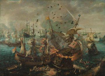 Slag bij Gibraltar in 1607, Cornelis Claesz. van Wieringen van