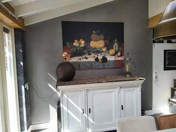 Kundenfoto: Stillleben mit Käse, Floris Claesz van Dijck