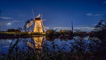 Kinderdijkse Mühle - Leuchtmühle von Fotografie Ploeg