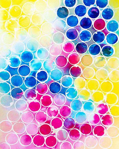 Bunte Blasen | Aquarellmalerei