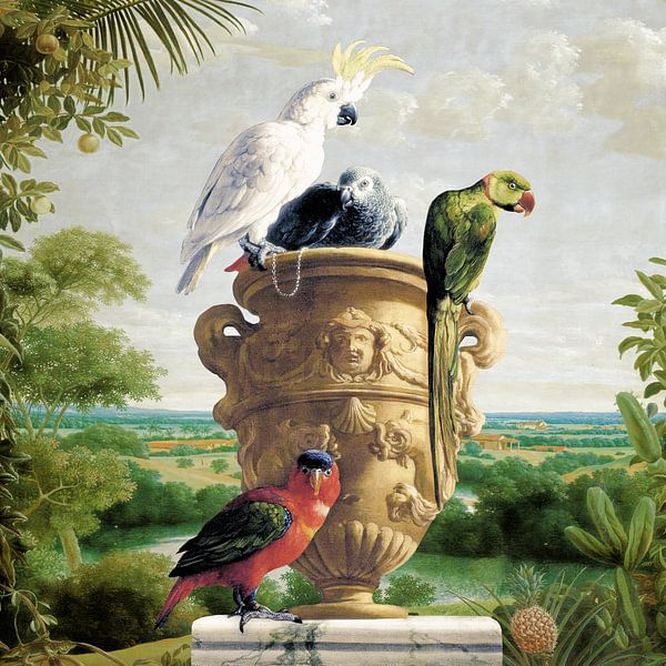 All Parrots and Pinapple von Marja van den Hurk