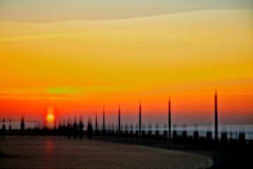 Zonsondergang van Eline Verhaeghe