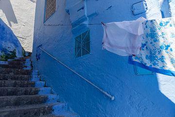 Traditionelle marokkanische Architekturdetails in Chefchaouen Marokko, Afrika von Tjeerd Kruse