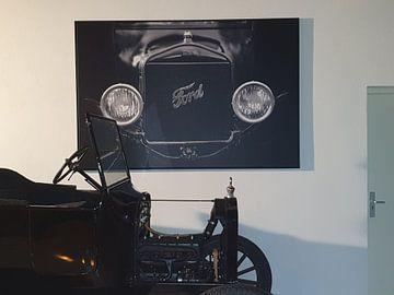 Klantfoto: Zwartwit Ford van Steven Langewouters